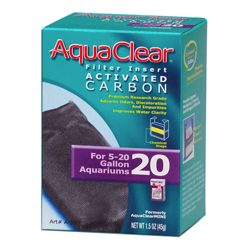 Carga Filtrante Carvão Activo para Filtro Mochila AquaClear