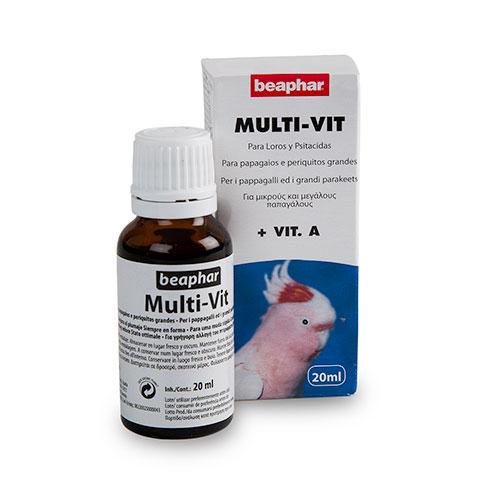 Multi-vitaminas para papagaios e caturritas Beaphar