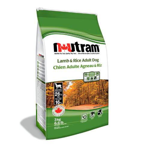 Nutram Adult Lamb&Rice Alimento Super Premium para cães