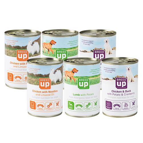 Pack de alimentação húmida para cães Breed Up Degustação