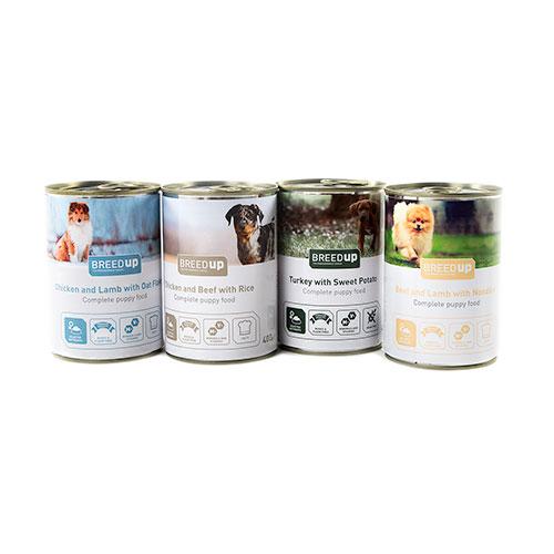 Pack degustação Breed Up de comida húmida para cachorros