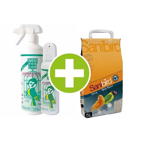 Pack Especial de higiene para Pássaros