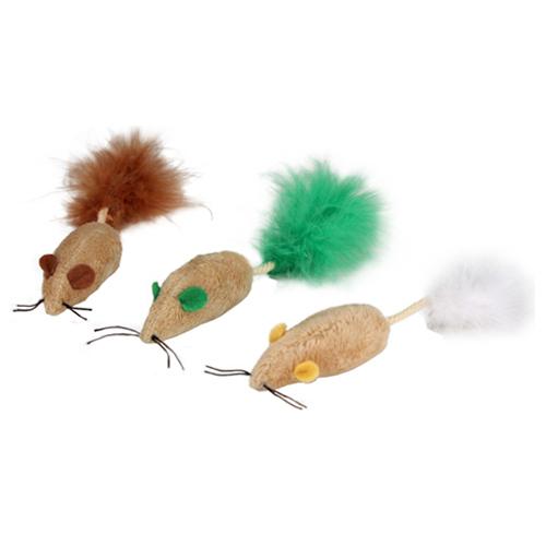Pack de 3 ratos para gatos Blind Mice