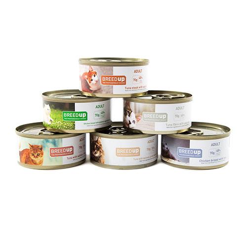 Pack semanal Breed Up de comida húmida para gatos adultos