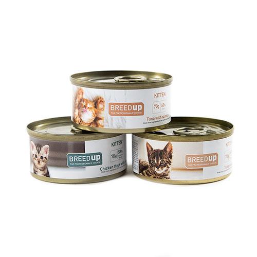 Pack degustação Breed Up de comida húmida para gatinhos