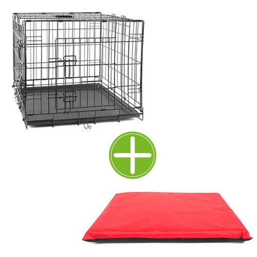 Pack TK-Pet estadia confortável: jaula   colchonete