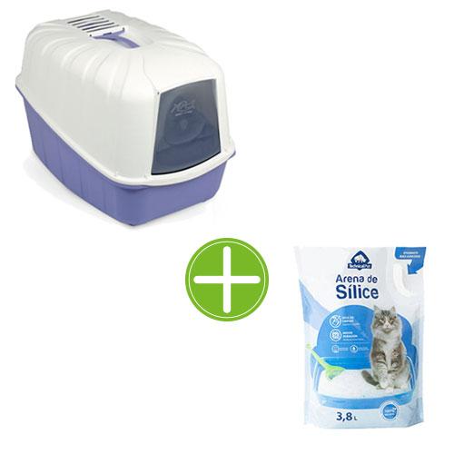 Pack TK-Pet higiene gatos: bandeja Minerva   areia sílica