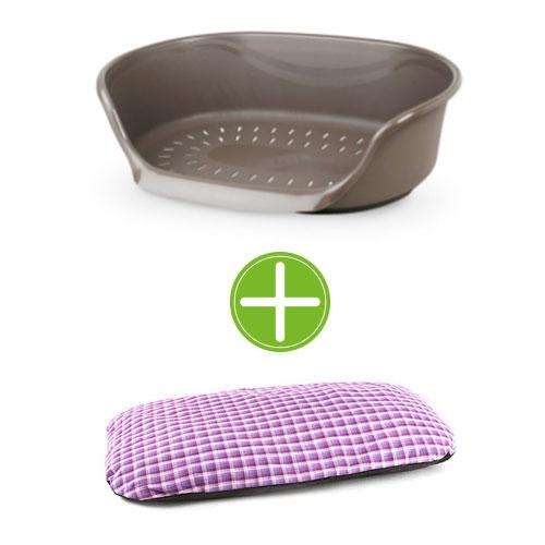 Pack TK-Pet relax: berço de plástico e almofada