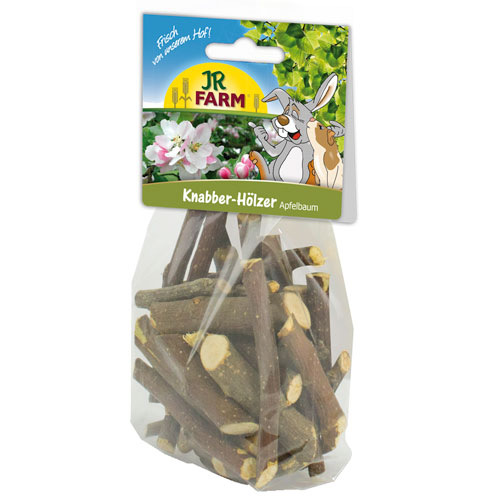 Palitos de madeira de macieira JR Farm para roedores e coelhos