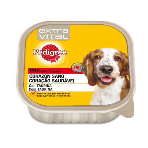 Pedigree Extra Vital Coração Saudável patê para cães em terrina