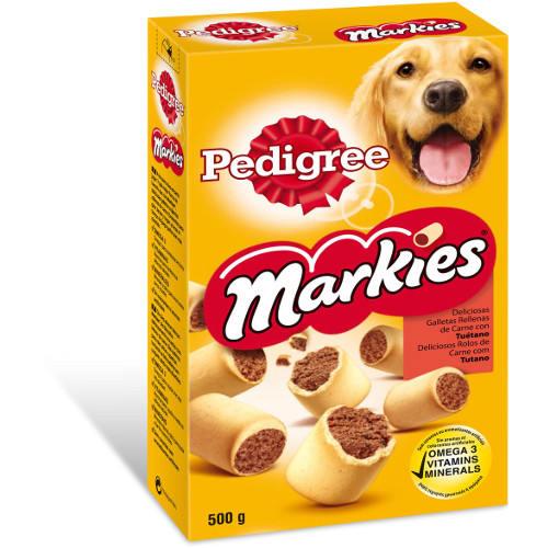 Biscoitos Pedigree Markies recheados com tutano