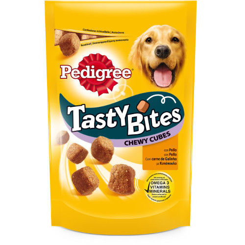 Snacks mastigáveis Pedigree Tasty Bites frango