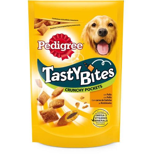 Pedigree Tasty Bites Crunchy Pockets snack para cães com frango