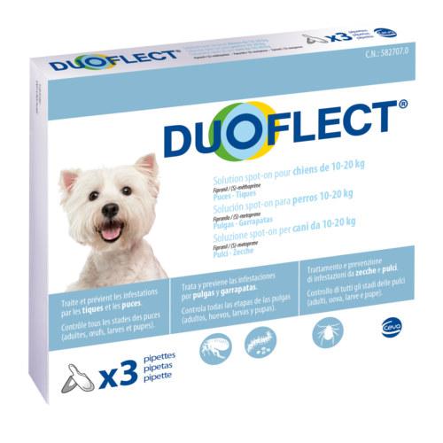 Pipetas antiparasitárias para cães de 10-20 kg Duoflect