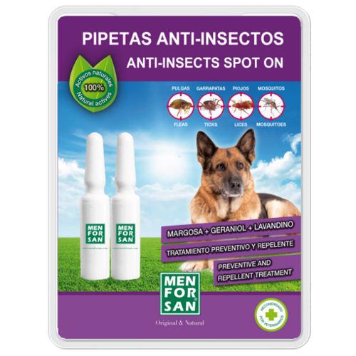 Pipetas naturais repelentes de insetos para cães Menforsan