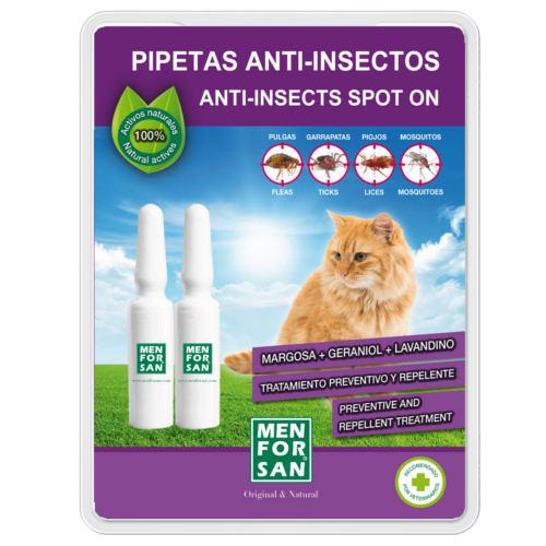 Pipetas naturais repelentes de insetos para gatos Menforsan
