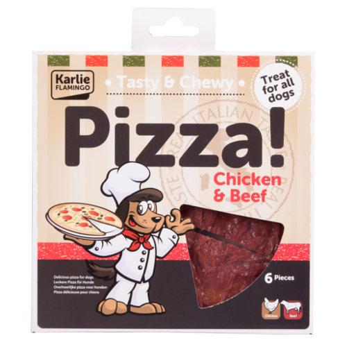 Pizza para cães de frango e vitela