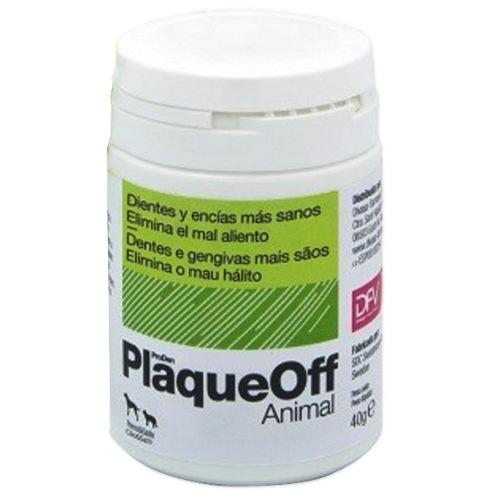 PlaqueOff Pós anti-sarro para a higiene bucal das mascotes