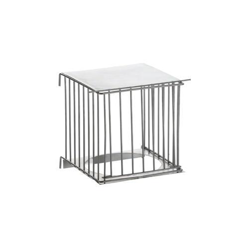 Porta-ninho metalico exterior para gaiolas