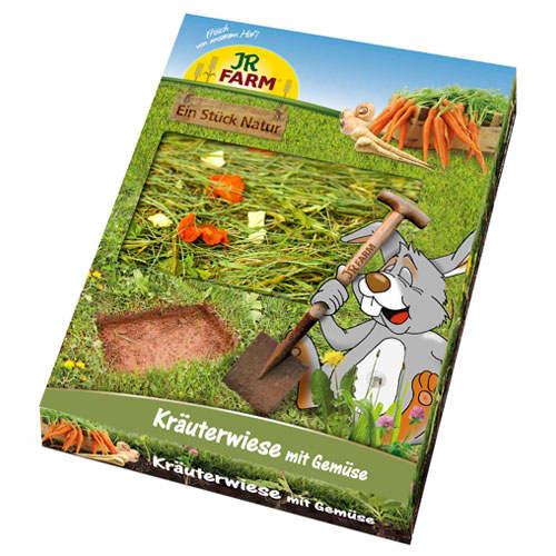 Prado de ervas com vegetais JR Farm para roedores e coelhos