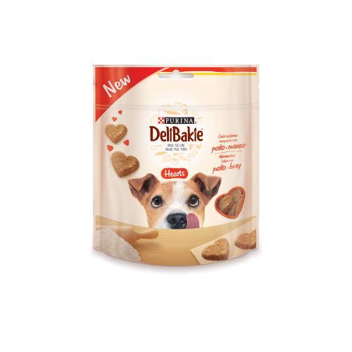 Biscoitos para cães Purina DeliBakie Hearts