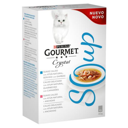 Purina Gourmet Crystal Multipack sopa de atum com camarão ou com anchovas