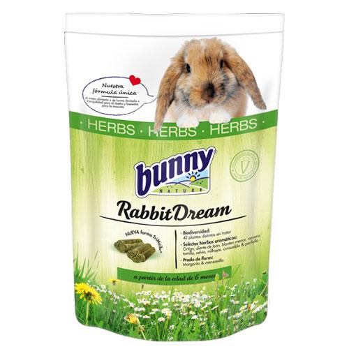 Ração completa para coelhos rica em ervas Rabbit Dream Bunny