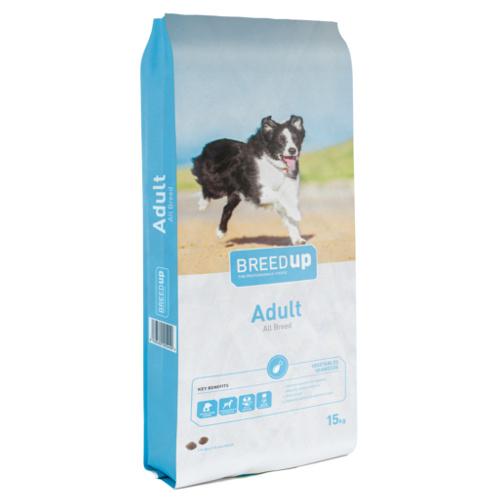 Ração para cães Breed Up Adult com legumes e algas