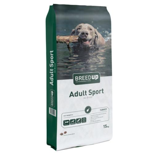 Ração para cães Breed Up Adult Sport com peru