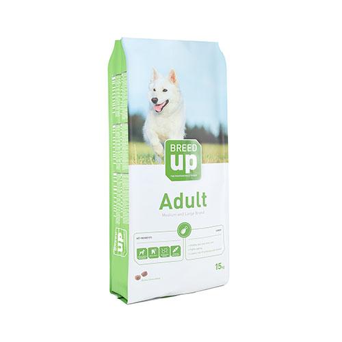 Ração súperpremium para cães Breed Up Adult Turkey com peru para raças médias e grandes
