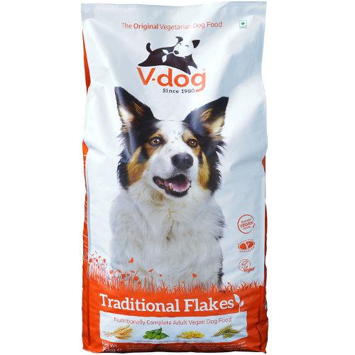 Ração vegetariana para cães V-Dog Traditional Flakes