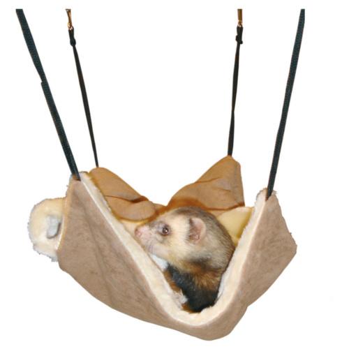 Rede de dormir de camurça com forro interior para furões