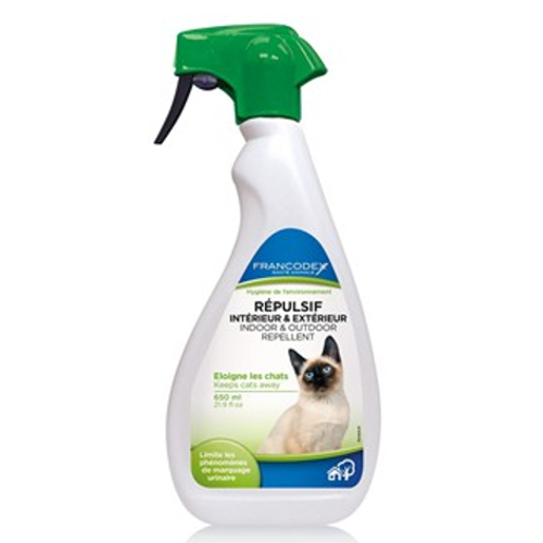 Repelente educativo em exteriores e interiores para gatos em spray Francodex