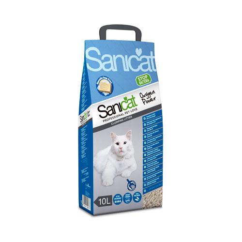 Sanicat Clumping Oxygen power areia aglomerante desinfectante