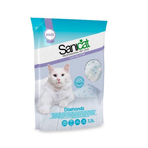 Sanicat Fresh Areia de sílice de longa duração para gatos