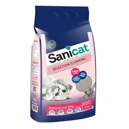 Sanicat Selection American areia ultra aglomerante perfumada
