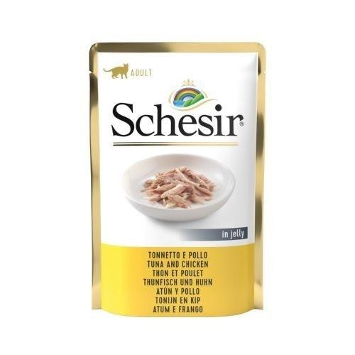 Schesir comida húmida para gatos com atum e frango