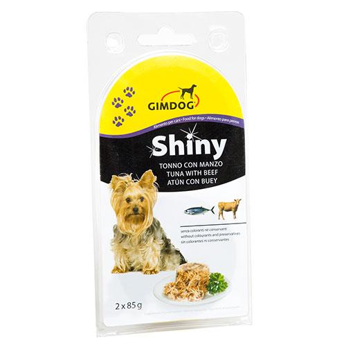 Shiny Dog folhas de gelatina para Cães Lata