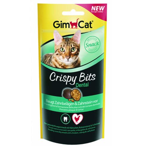 Snack para gatos Crispy Bits Dental GimCat