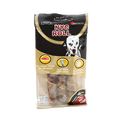Roll snack para cães Barra recheada com carne