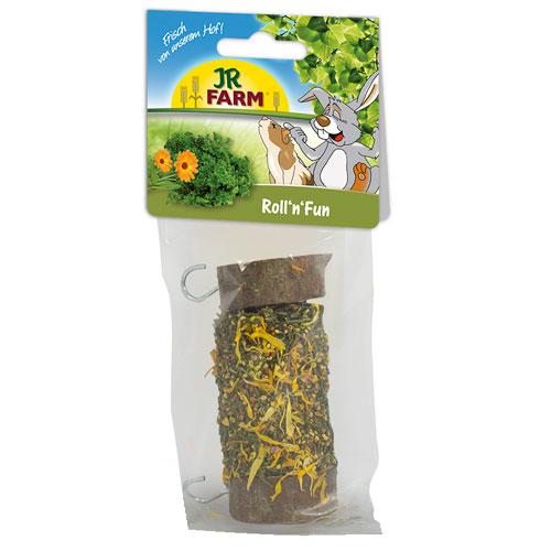 Snack rolinhos com ervas para roedores e coelhos JR Farm Roll´n´fun