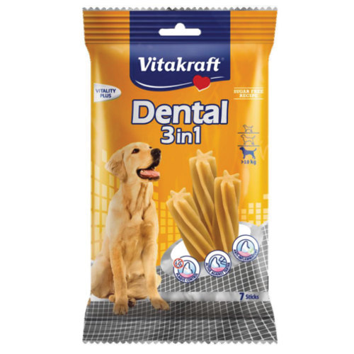 Snacks Dental Sticks 3in1 Vitakraft para cães médios