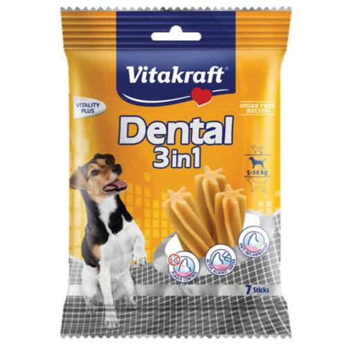 Snacks Dental Sticks 3in1 Vitakraft para cães pequenos