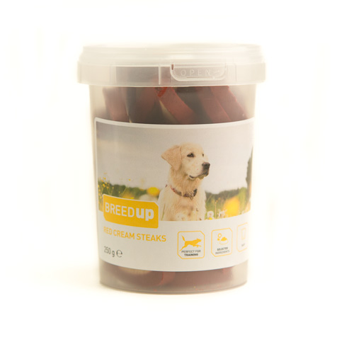 Snacks para cães Breed Up Red Cream Steaks
