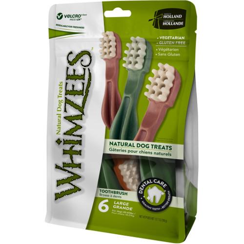 Snacks para cães grandes Whimzees escova de dentes