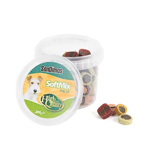 Soft mix goluseimas tenras para cães