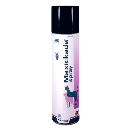 Spray antiparasitário externo para cães Maxickade