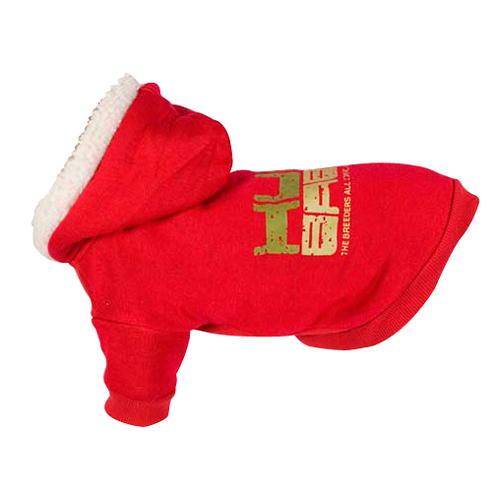 Suéter elástica com capuz Hum baby vermelha