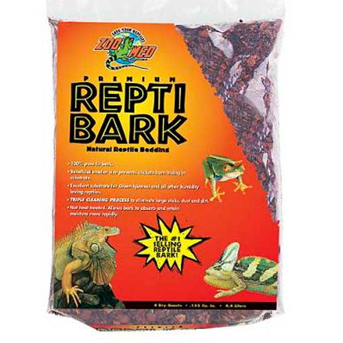 Substrato natural Repti Bark reutilizável