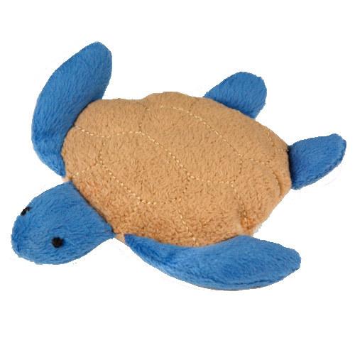 Tartaruga de peluche recarregável de catnip para gatos